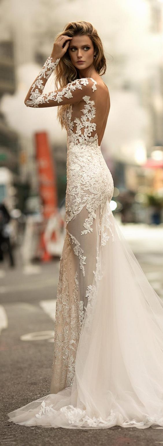 backless wedding gowns white dresses for wedding BERTA Fall Winter Wedding Dresses