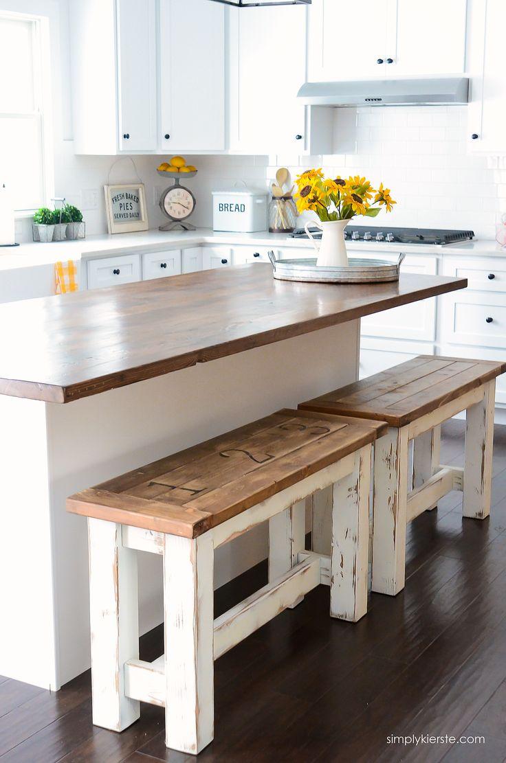 diy bar stools make kitchen table DIY Kitchen Benches