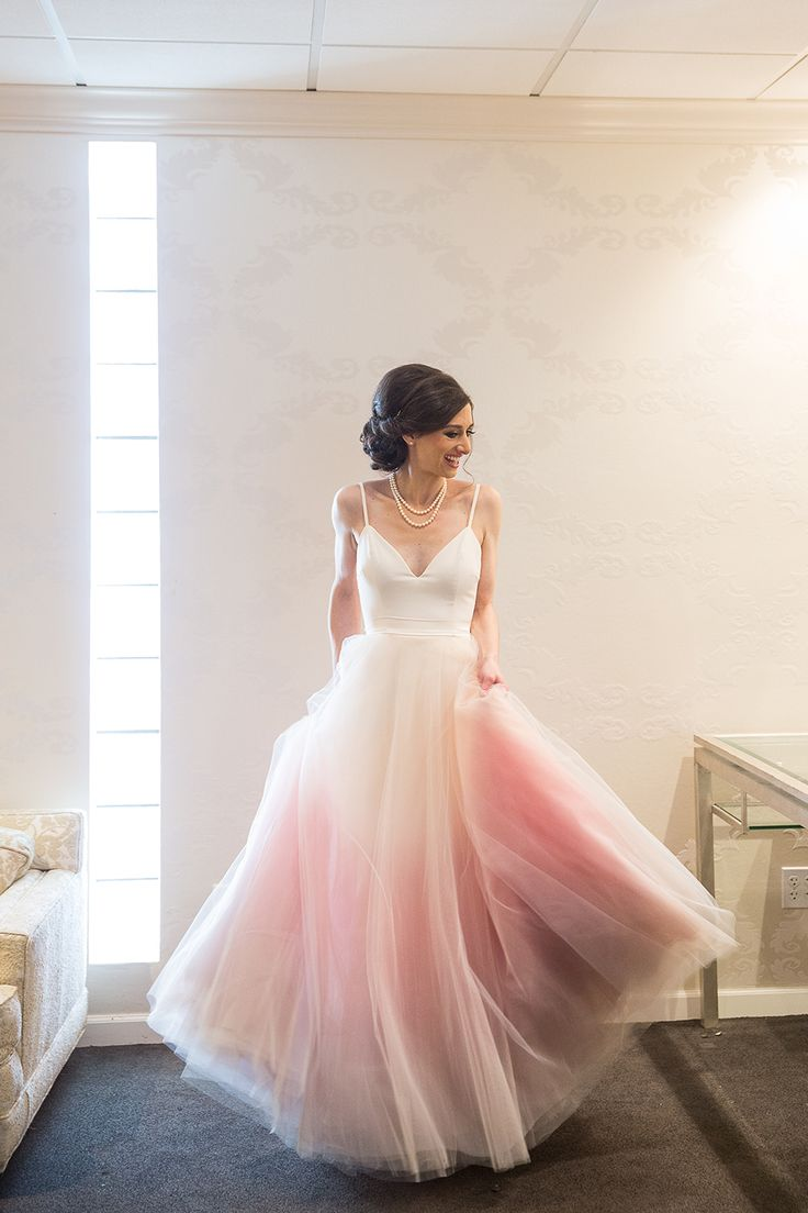 pink wedding dresses pink wedding dress Gorgeous sunset wedding dress