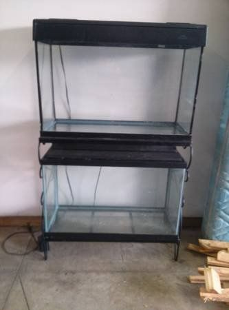 46 gallon Bow Front Fish Tank Complete set up 29 30 46 55 75 90 125