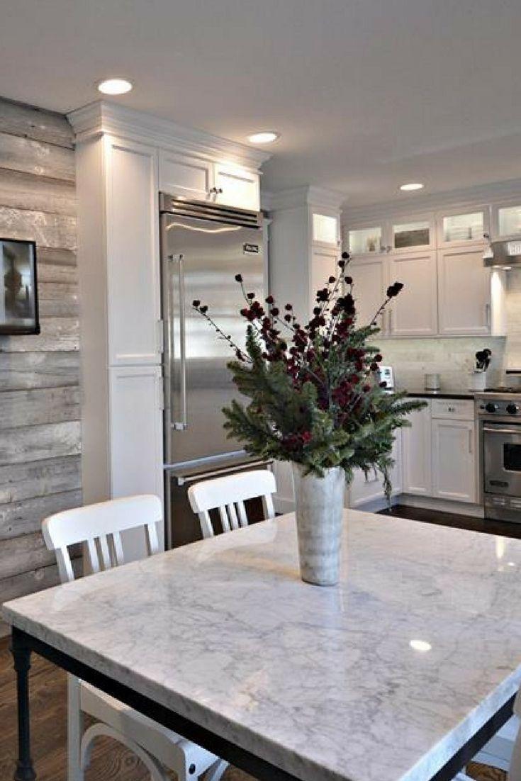 hardwood flooring trends kitchen flooring trends flooring and kitchen trends White kitchen dark floors white countertops and table