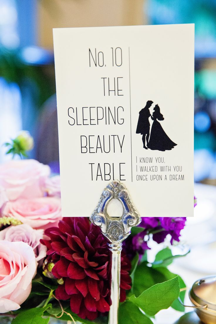 disney weddings disney wedding bands Name your tables after your favorite Disney characters and add in some lyrics for extra