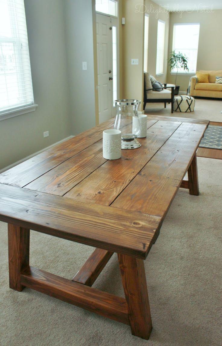 farm table diy diy kitchen table plans We Built a Farmhouse Dining Room Table