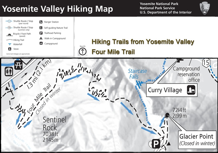 map yosemite trails