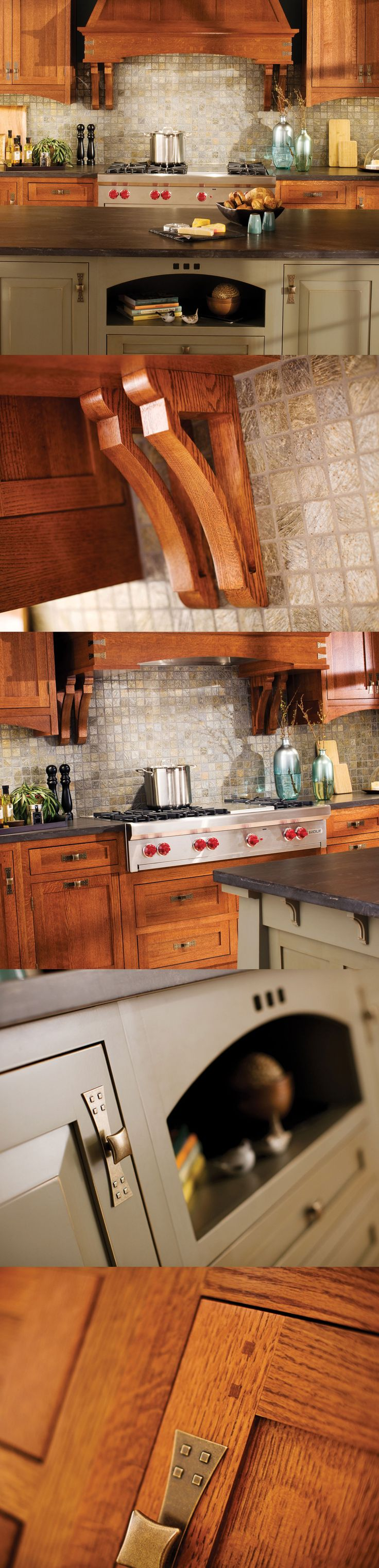 craftsman style kitchens kitchen design Craftsman Kitchen Design in Dura Supreme Cabinetry LOVE THOSE HANDLES