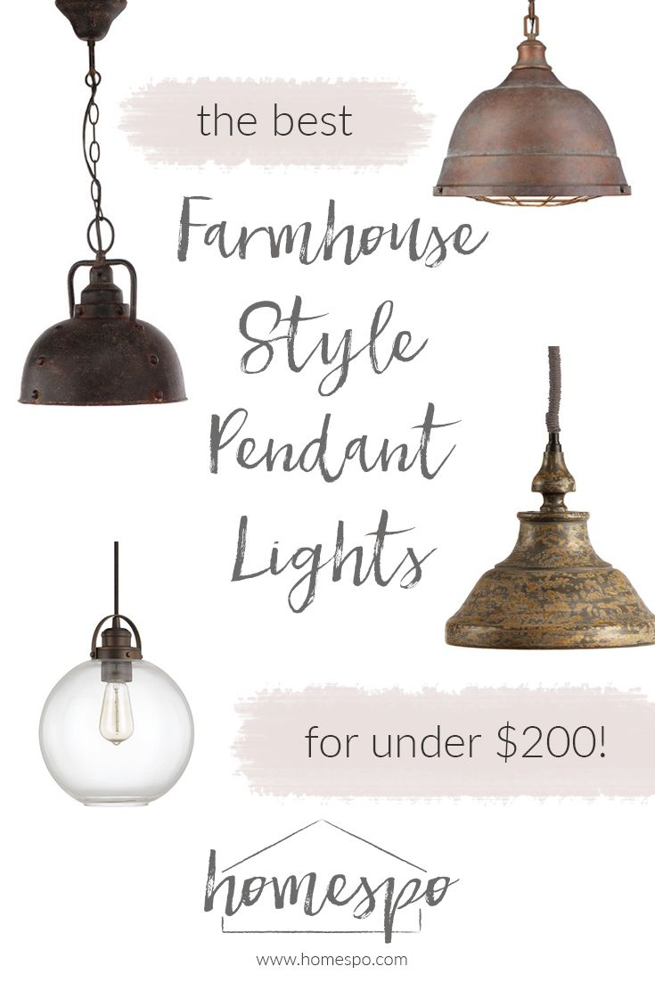 kitchen pendants farmhouse kitchen lighting Click through to shop my favorite farmhouse style pendant lights all are under
