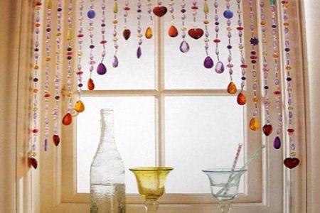 also in window over bathroom mirror! kitchen curtain ideas