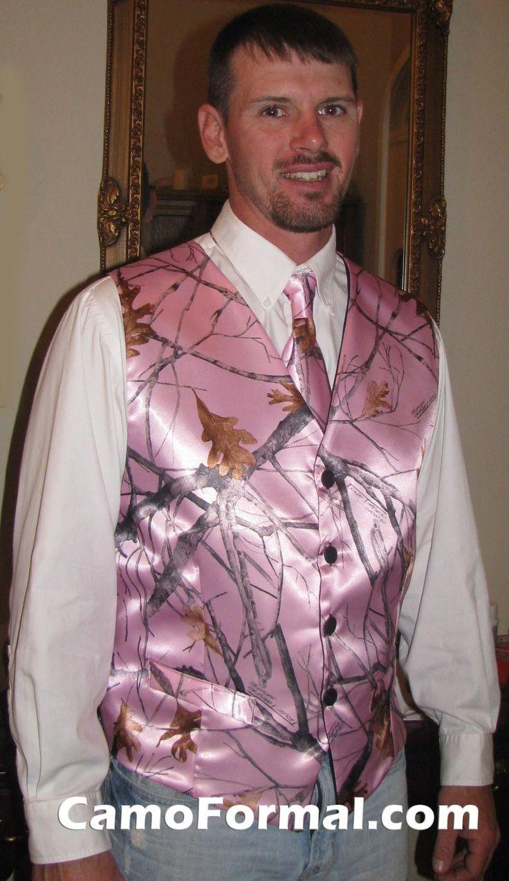 camo formal camouflage wedding dress Camo wedding help wedding dresses ideas weddings Camo Formal Mens Vest Pink Snowfall Best