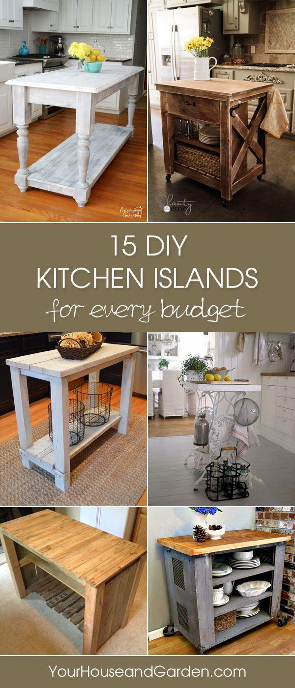 diy kitchen diy kitchen ideas 15 Gorgeous DIY Kitchen Islands For Every Budget
