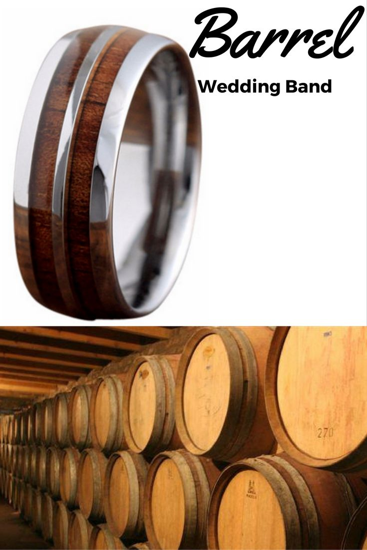 wood wedding bands wood wedding rings 8mm Silver Tungsten Koa Wood Ring with Tungsten Stripe Unique Mens Wedding BandsWood