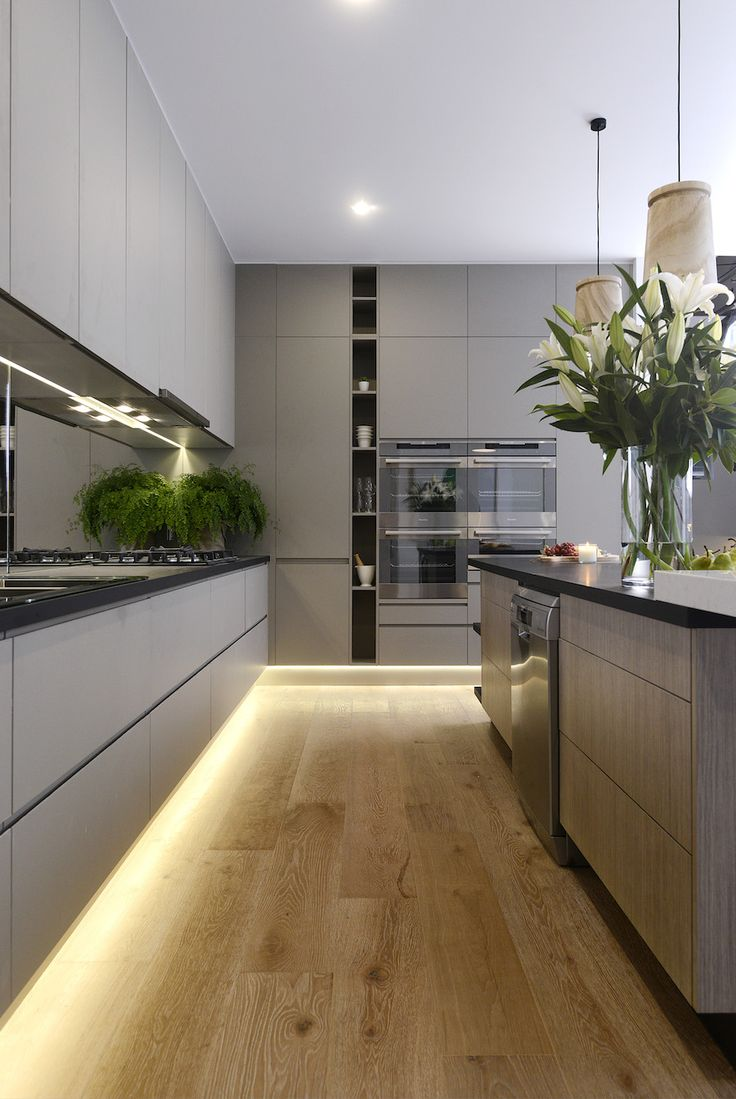 led lighting for kitchens contemporary kitchen lighting Modern kitchen with under cabinet LED strip lighting