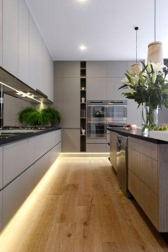 led lighting for kitchens kitchen led lighting Modern kitchen with under cabinet LED strip lighting