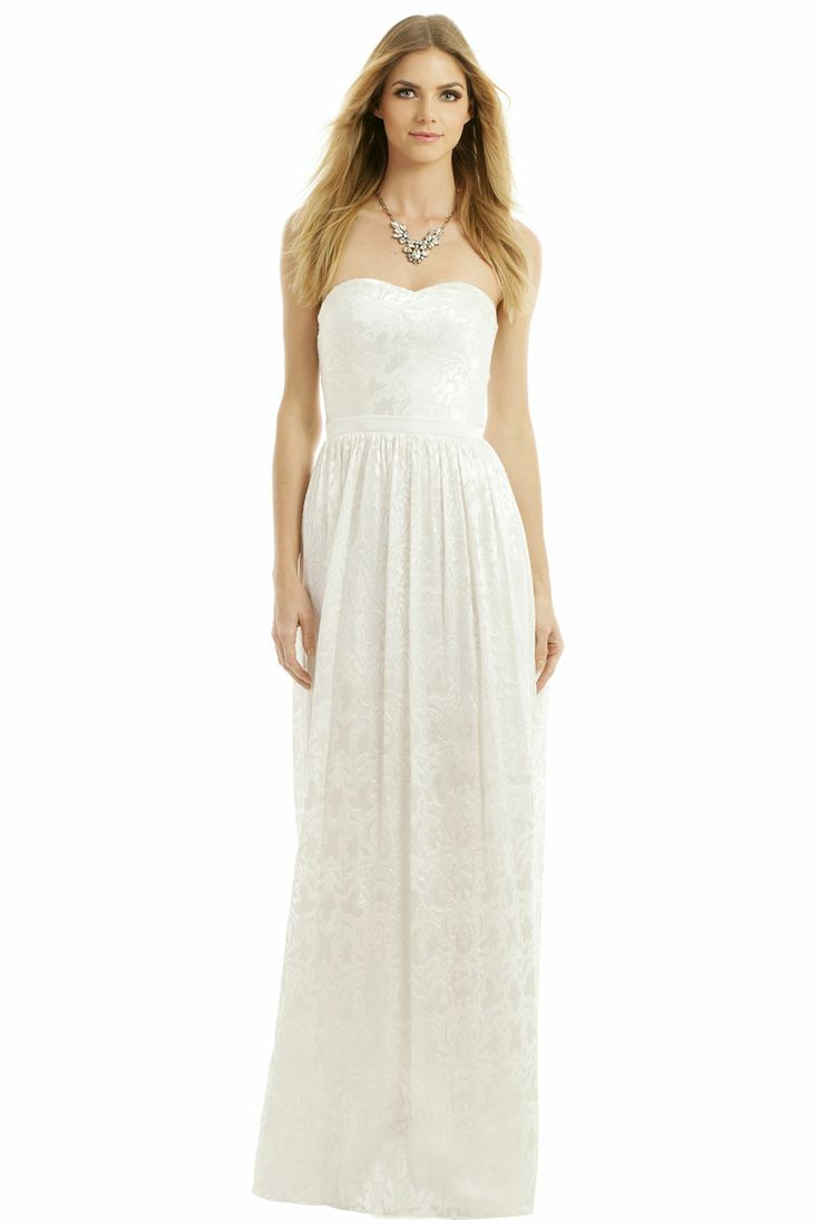 inspired dress the part wedding dress rental ERIN erin fetherston Sunset Beach Walk Gown