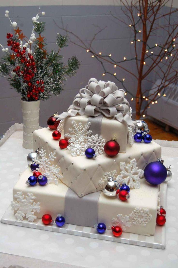 christmas wedding cakes wedding cakes ideas beautiful Christmas wedding cakes Christmas Wedding Cake Square Wedding