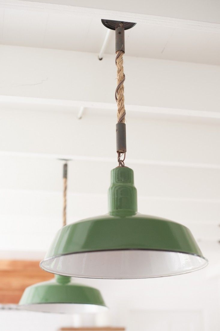 lighting farmhouse kitchen lighting Design Sleuth Rope Pendant Lights in a Summer Cottage
