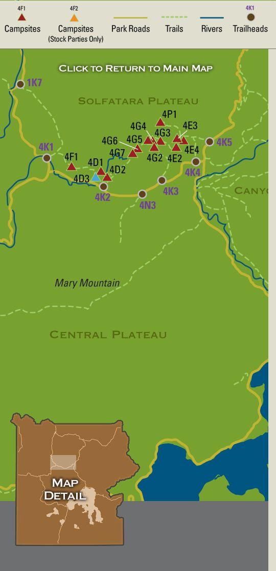 map showing campsites