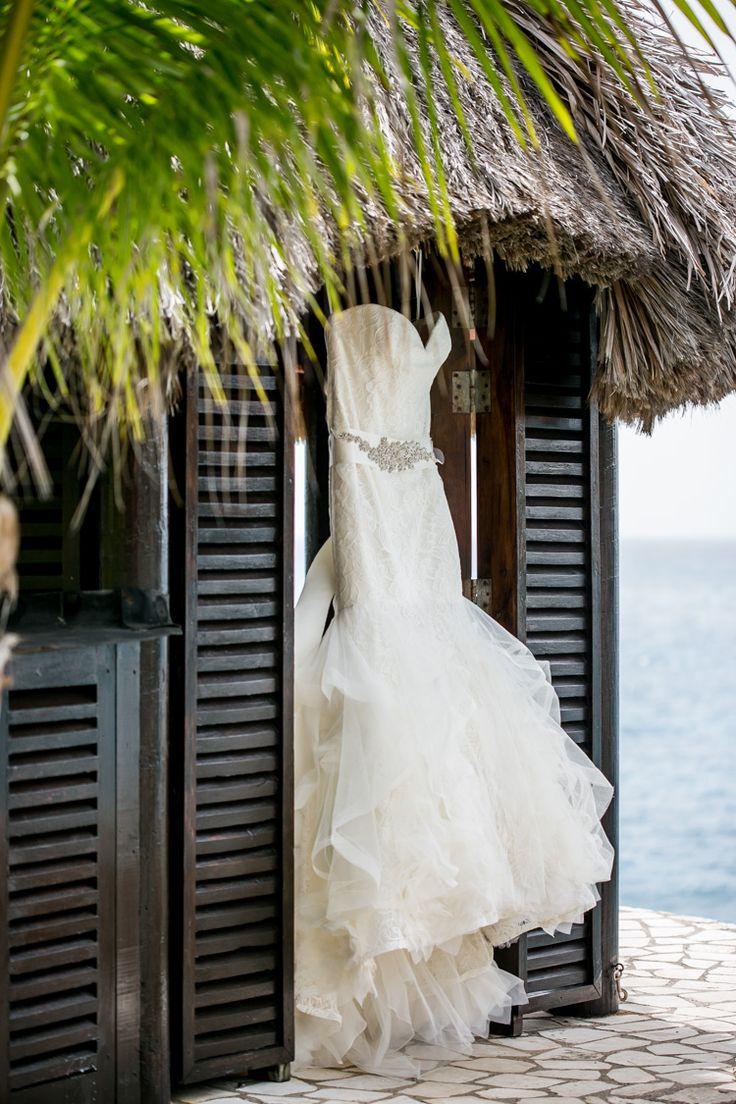 hotels in negril jamaica jamaican wedding dresses rockhouse hotel wedding jamaica negril 5 Vera Wang Lillian dress Shannon