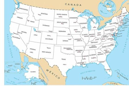 us map | map of the united states of america with all