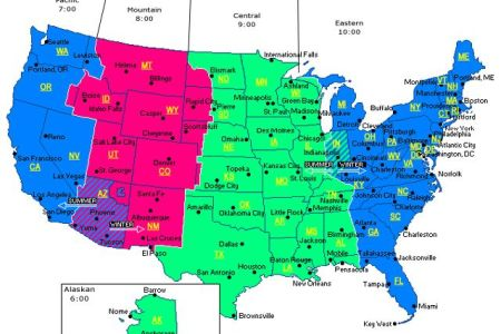map of time zones in north america | truck drivers are on