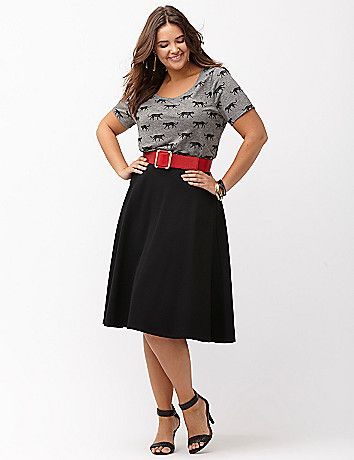 Ponte Circle Skirt by Lane Bryant.