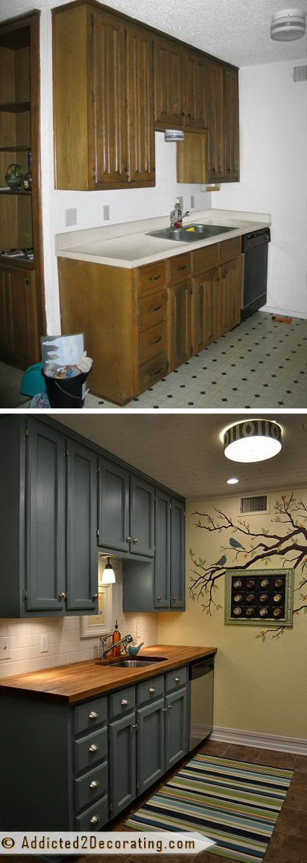 kitchen makeover ideas Before and After 25 Budget Friendly Kitchen Makeover Ideas Cabinets House and Countertops