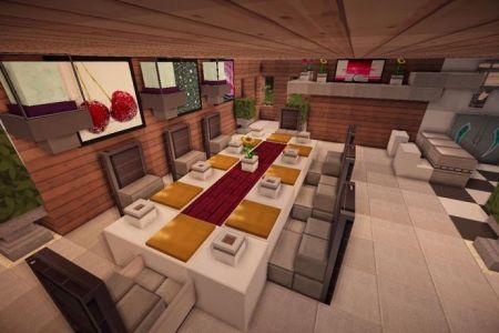 jade modern minecraft kitchen table | minecraft
