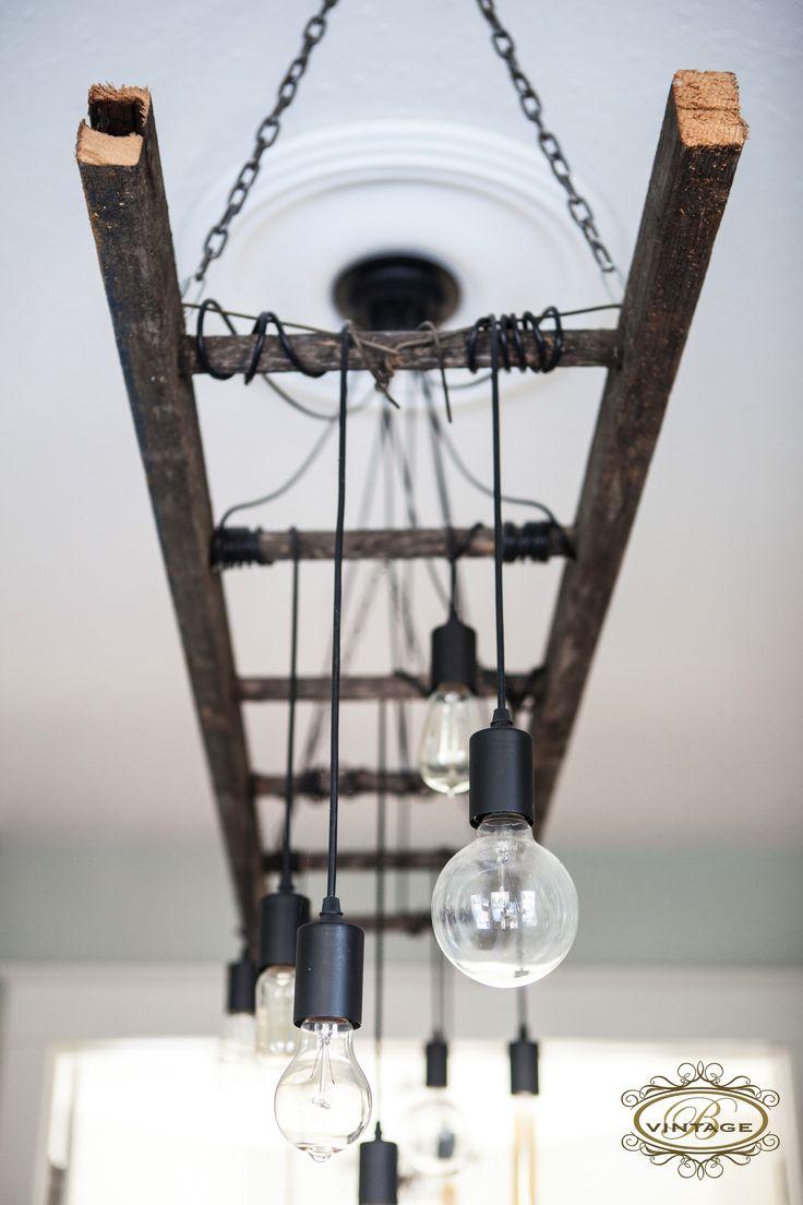 edison chandelier industrial kitchen light fixtures Edison Chandelier Edison bulb ladder light industrial decor industrial lighting antique