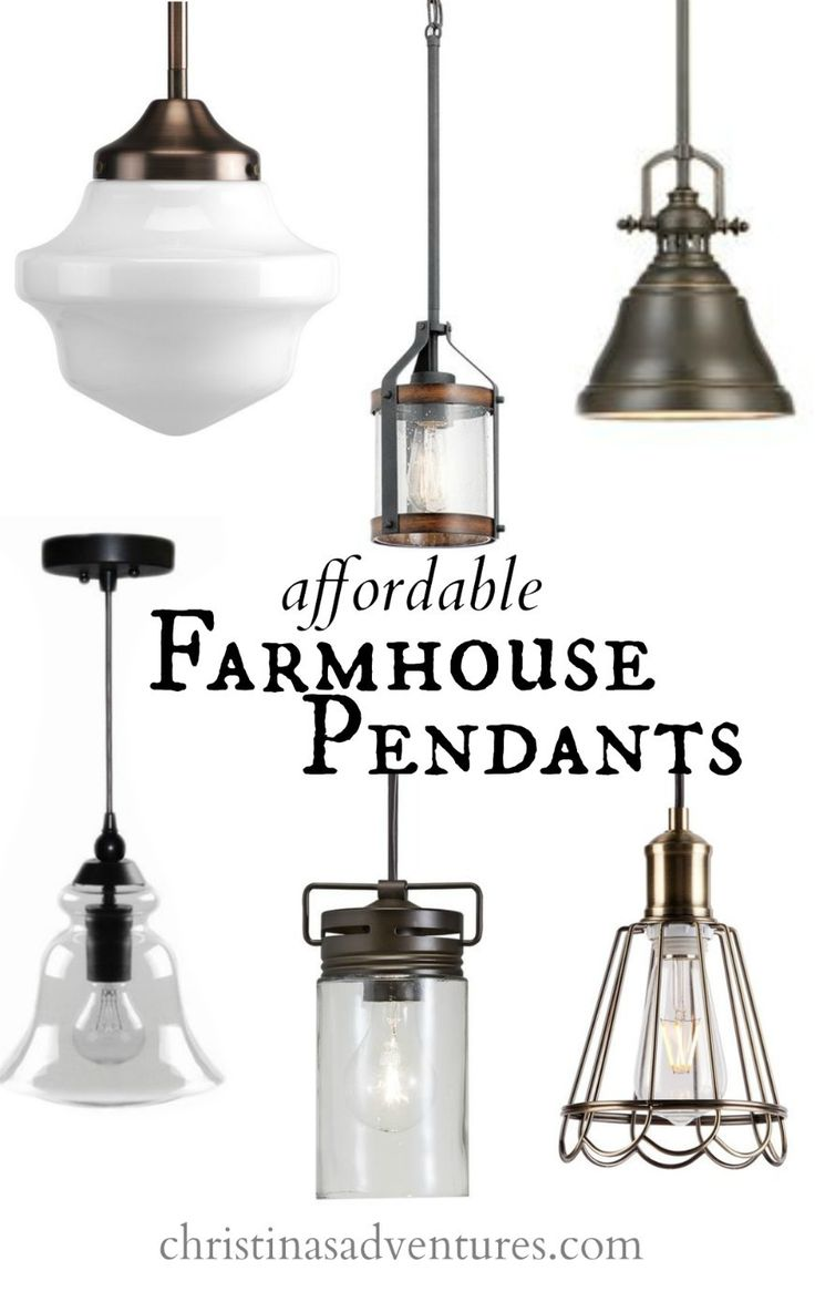 farmhouse pendant lighting farmhouse kitchen lighting Affordable Kitchen Design Elements
