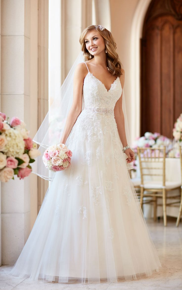 say yes to the dress spaghetti strap wedding dress best images about Say Yes To The Dress on Pinterest Stella york Lace and Casablanca