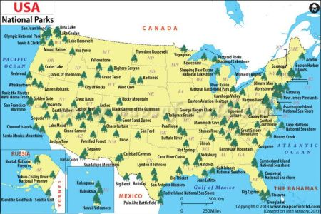 us national parks map the world includes this great