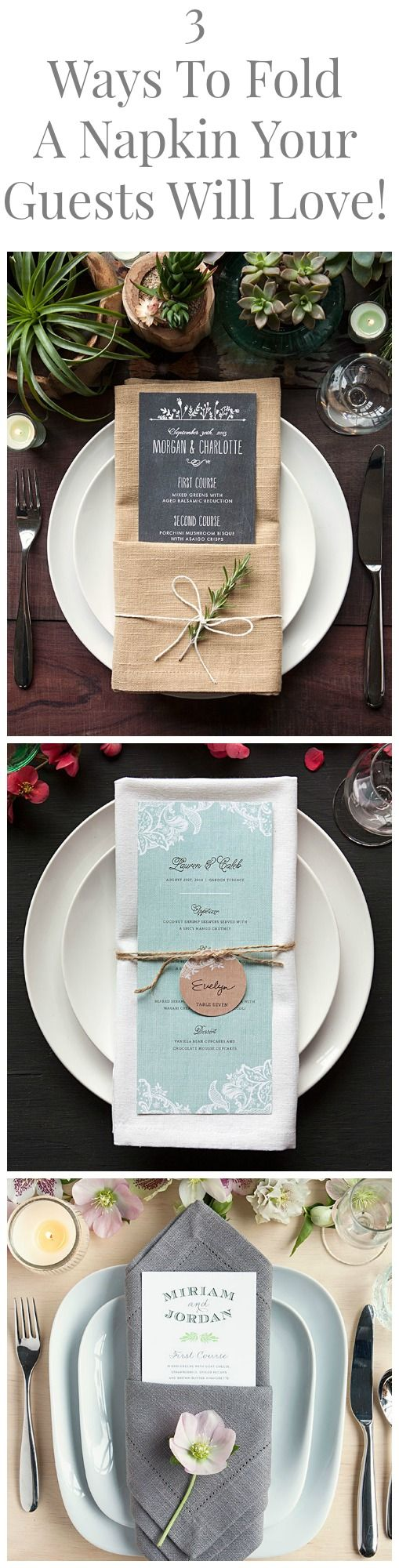wedding napkins napkins for wedding 3 Great Ways To Fold A Napkin For Your Dinner Party or Wedding That Will Stun