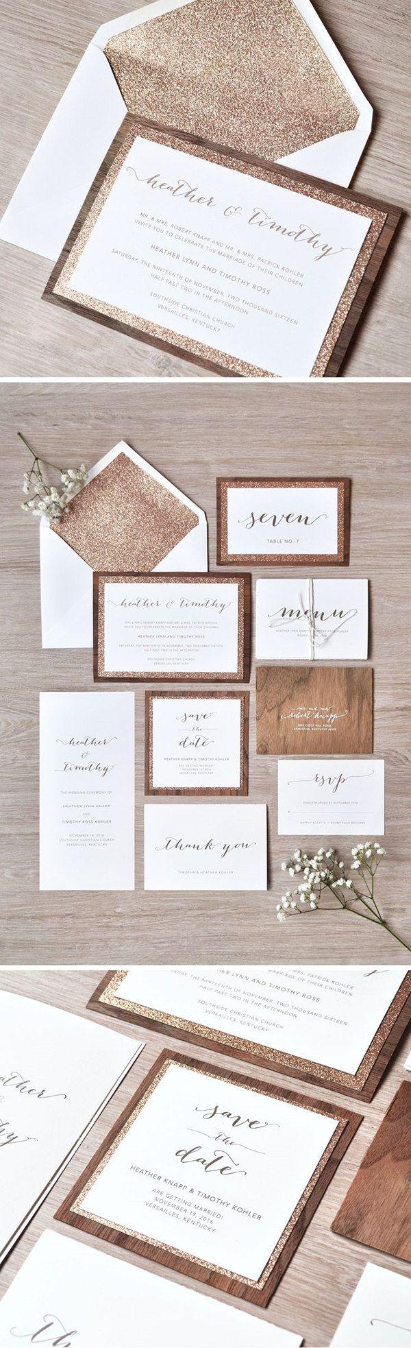 wood wedding invitations wood wedding invitations 10 Hottest Wedding Invitation Trends for