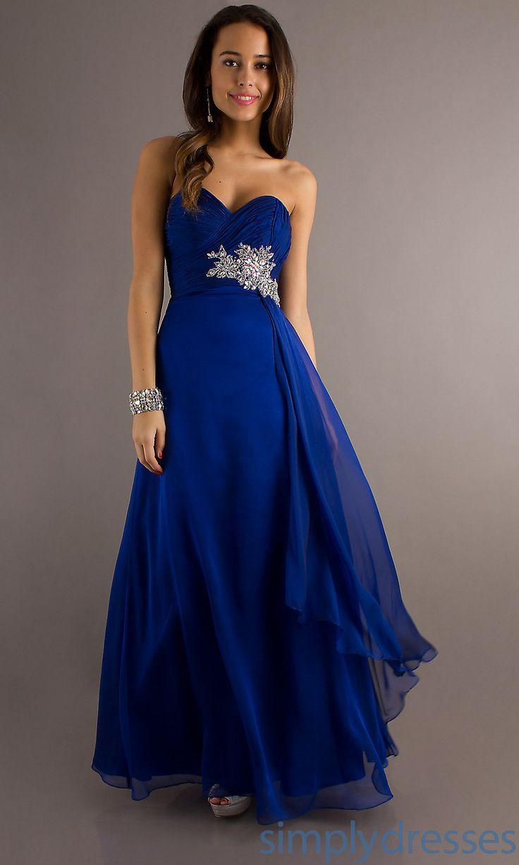 cobalt bridesmaid dresses blue wedding dresses Dresses Formal Prom Dresses Evening Wear Temptation Floor Length Strapless Sweetheart Dress Royal Blue Wedding