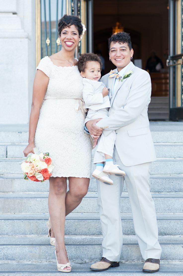 lesbian wedding and lesbian family lesbian wedding ideas 17 Stylish Couples Snapped At City Hall Elizabeth and Elaine Lesbian Wedding