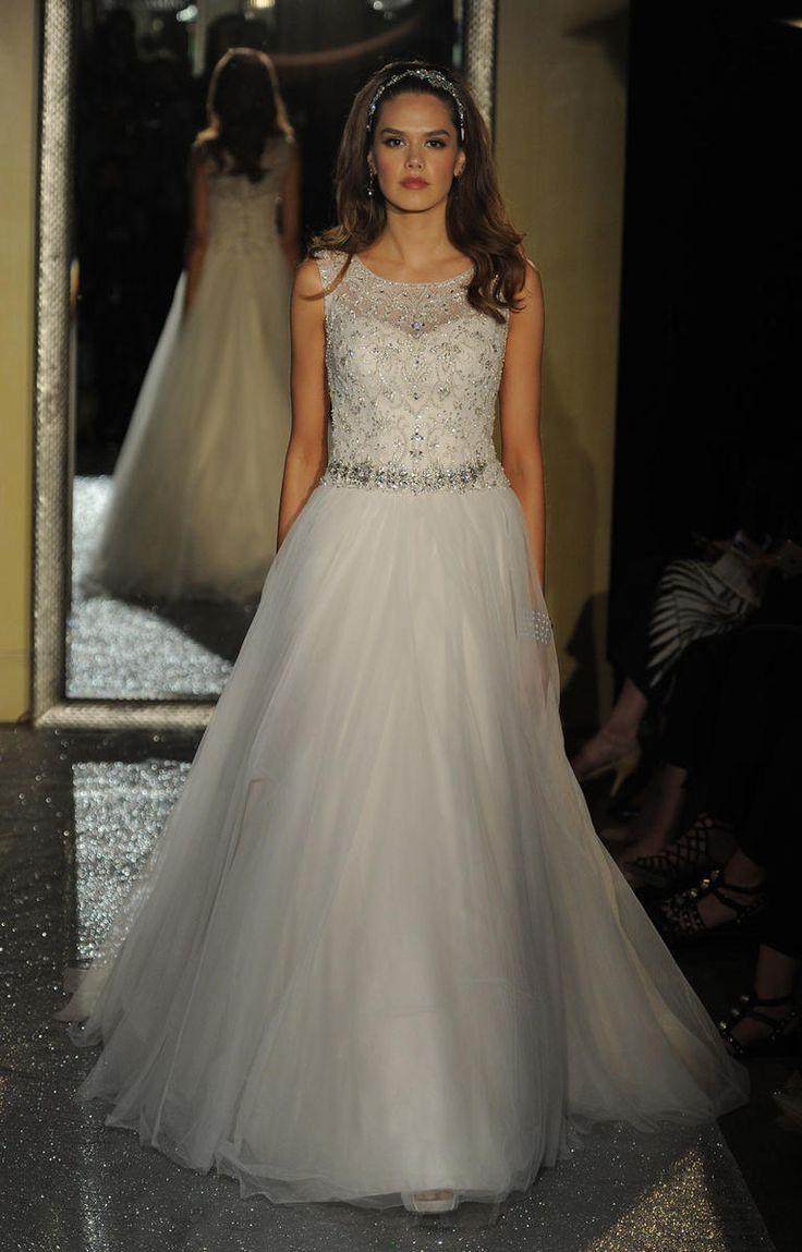 davids bridal wedding dresses davids bridal wedding dresses Lace and Crystal Perfection From Oleg Cassini at David s Bridal Spring Tambour BeadingTulle Wedding DressesWedding