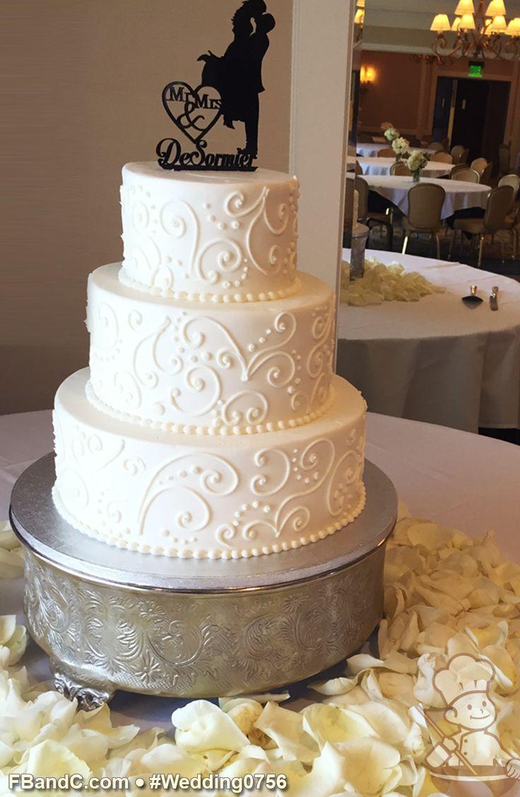 wedding cake designs wedding cakes ideas Design W Butter Cream Wedding Cake 12 9 6