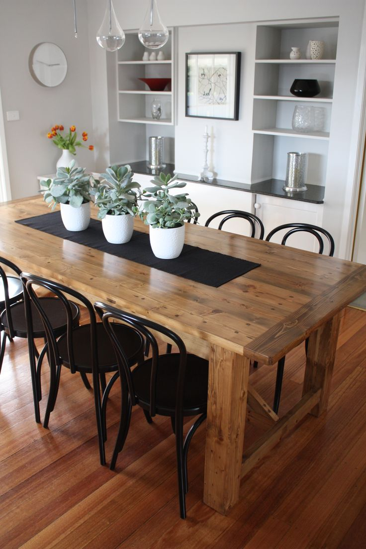 dinning table rustic kitchen tables Rustic Dining Table pairs with Bentwood Chairs