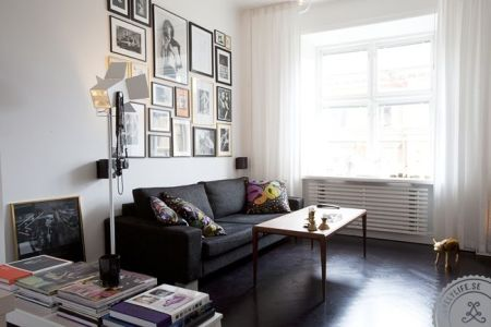 the space | picture walls, white curtains and galleries