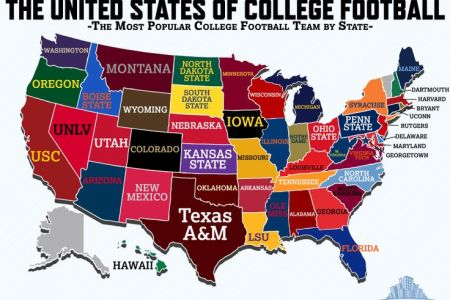 gallery for > all college football teams map