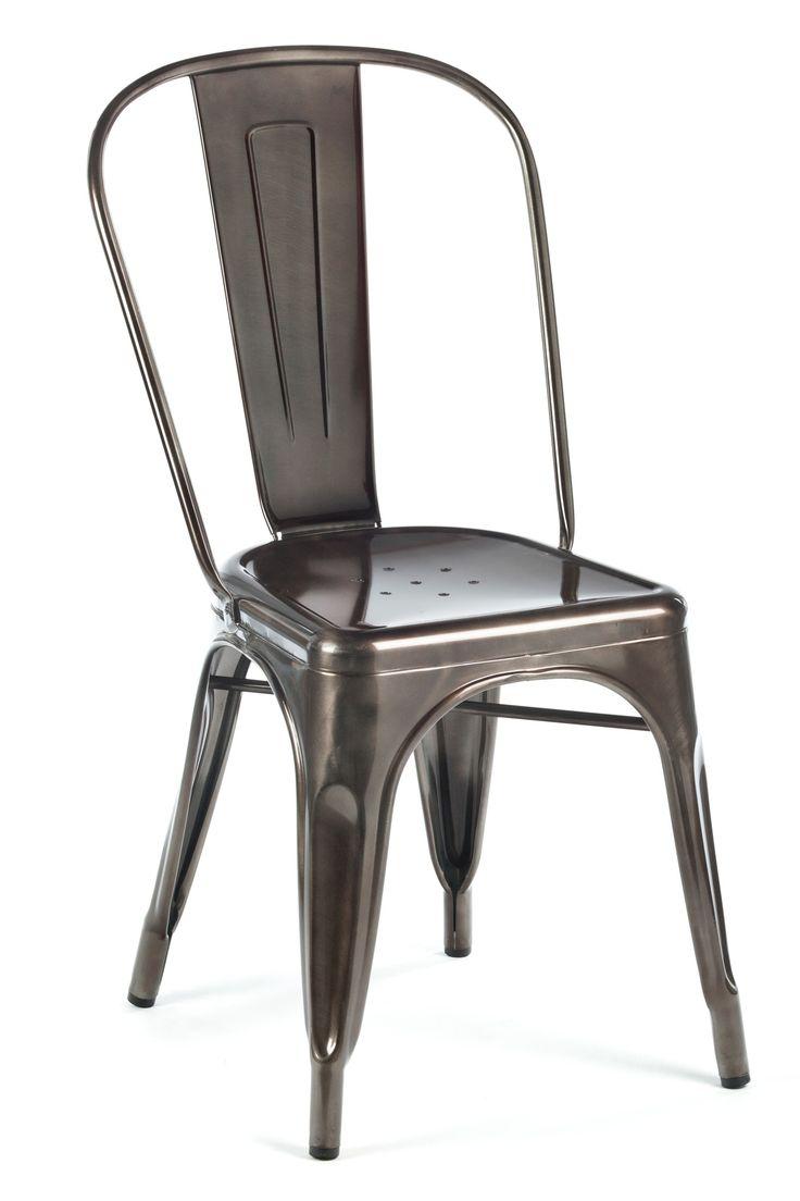 kitchen chairs gun metal metal kitchen chairs Marais A Side Chair Gunmetal Industry West