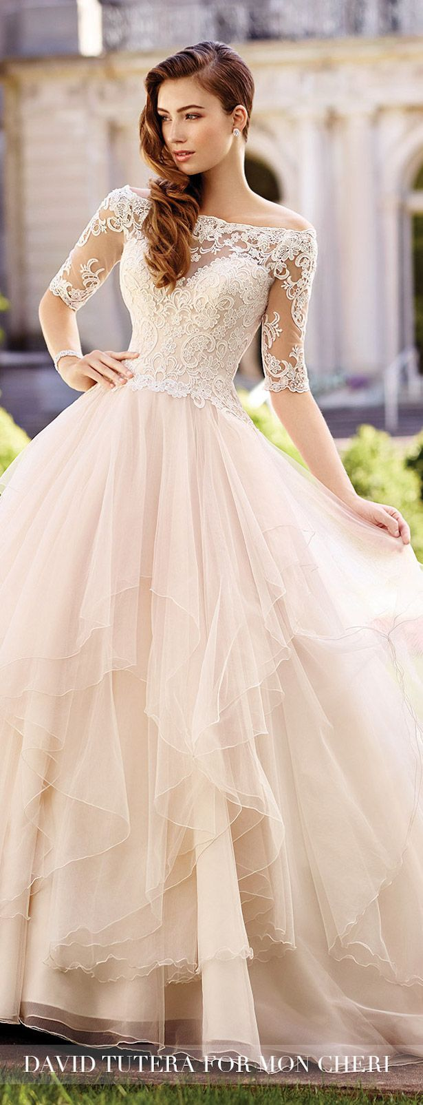 wedding gowns sleeved wedding dress Bridal Trends Lace Illusion Sleeves With Mon Cheri Bridals