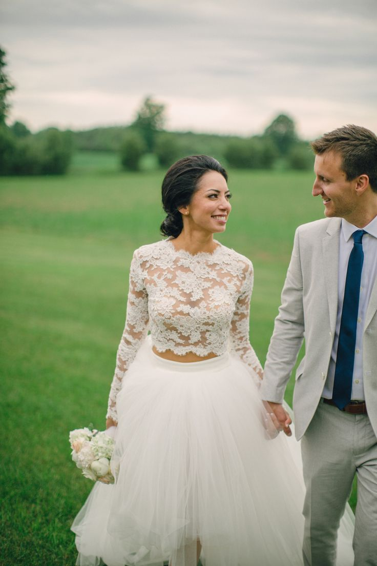 wedding dresses crop top wedding dress Miss Wisconsin Says I Do in a Breathtaking Rustic Chic Wedding