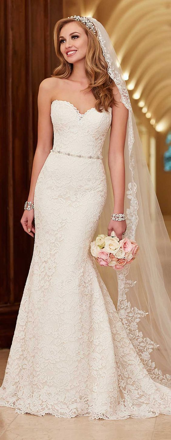 sweetheart wedding dress mermaid lace wedding dress What Style Wedding Dress Is For You