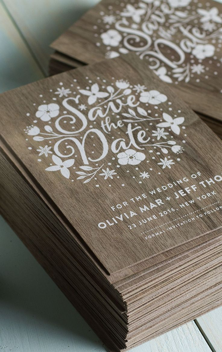 wood wedding invitations wood wedding invitations Stunning wedding invites produced on real wood with white printing Jukeboxprint