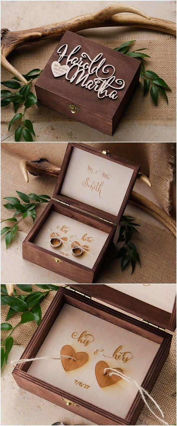 wedding ring box wedding ring Rustic wood wedding ring box rusticwedding countrywedding weddingideas