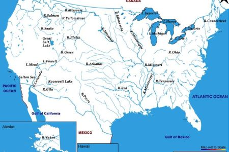 lakes and rivers of the united states map | work related