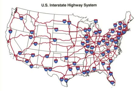 u.s. interstate highway map | see the usa in a different