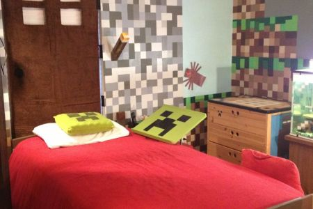 gallery for > real minecraft themed bedroom