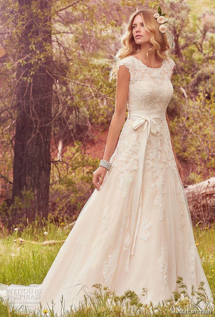 maggie sottero wedding dresses romantic wedding dresses Maggie Sottero Spring Wedding Dresses Avery Bridal Collection