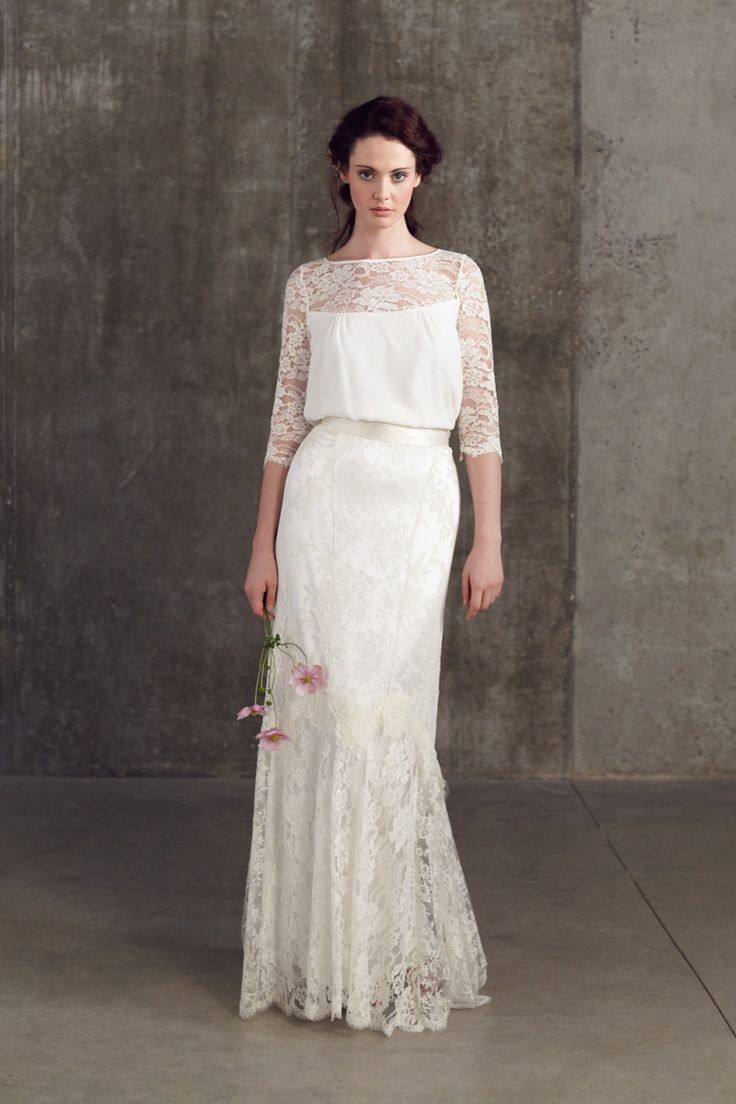 wedding dress wedding dress 2 piece Bridal Separates by Sally Lacock An Exquisite Collection of 2 Piece Wedding Dresses